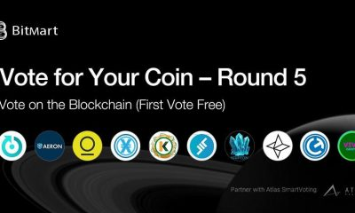 """BitMart """"Vote for Your Coin - Round 5"""" Vote on the Blockchain with Your First Vote Free!"""
