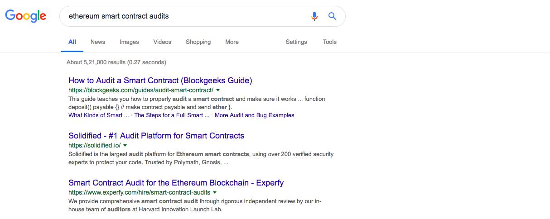 Smart Ethereum Contract Audit | Source: Google