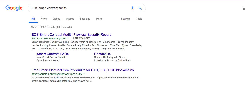 EOS intelligent contractual audits Source: Google