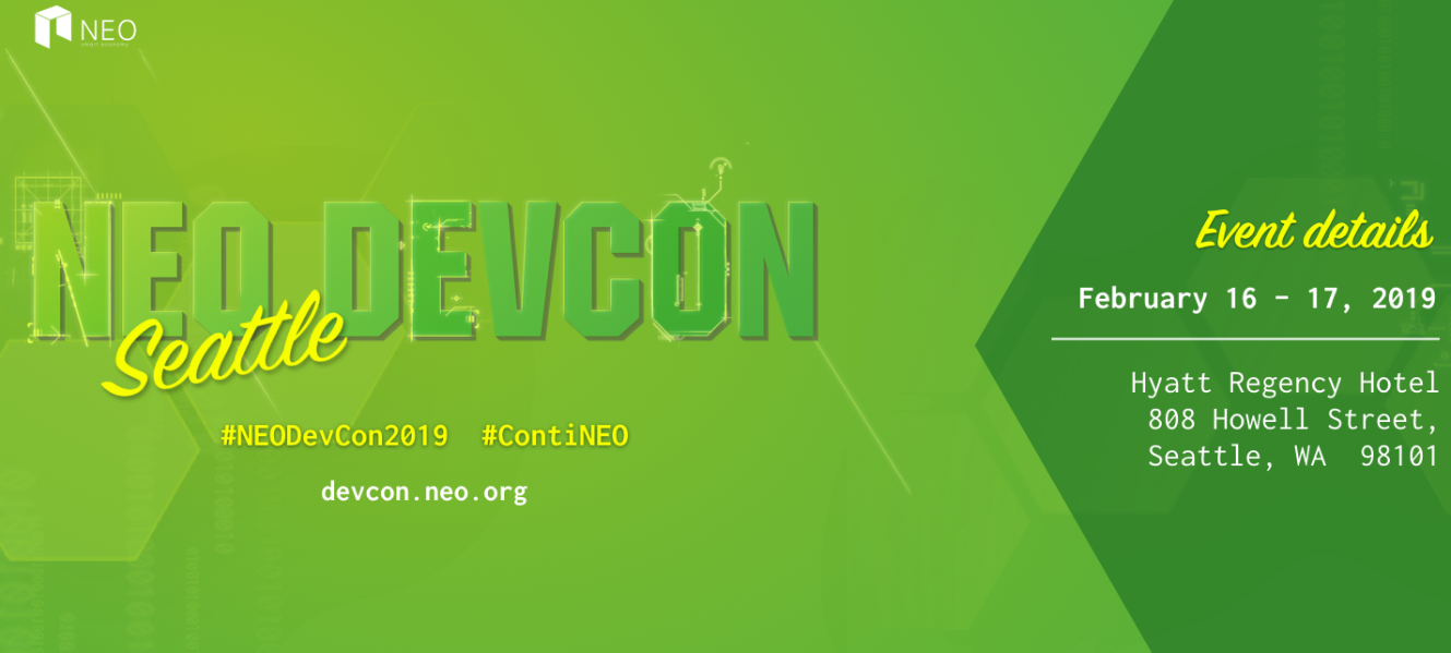 NEO set to attract exciting new developers with Devcon in America's fastest growing tech hub Seattle