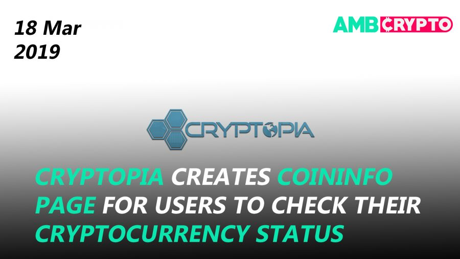 Cryptopia's new update on funds, TRX Dapp Weekly Report, and more