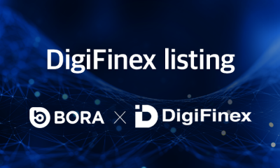BORA, listed on Global cryptocurrency exchange DigiFinex! Practicality and Usability are BORA's core strength