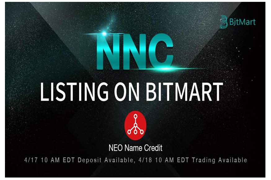 BitMart lists Neo Name Credit [NNC]