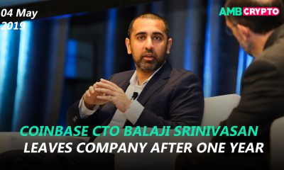 Coinbase CTO Balaji Srinivasan leaves company after one year, Bitfinex launches whitepaper for imminent IEO and more