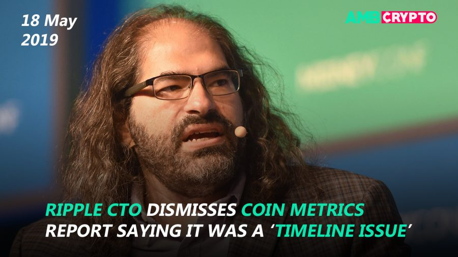 Ripple CTO dismisses Coin Metrics report saying it was a 'timeline issue', Tron [TRX] futures to soon start trading on OKEx platform and more