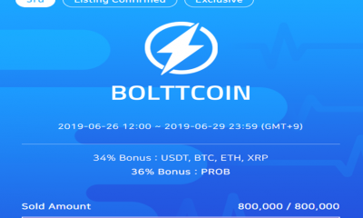 Worldwide IEO leader ProBit Exchange raises $678,000 in BolttCoin IEO