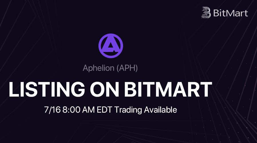 BitMart Lists Revolutionary Wallet Based P2P Trading DEX Aphelion [APH]